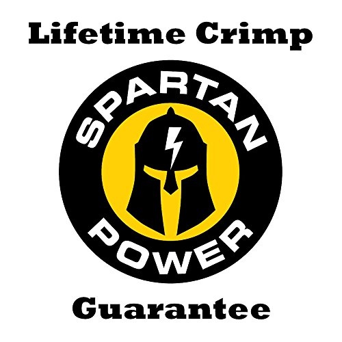Spartan Power 15 Foot 4 AWG Battery Cable Set Four Gauge Wire Made in America 15FT with 5/16'' Ring Terminals by Spartan Power (Image #5)