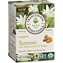 Traditional Medicinals Organic Turmeric with Meadowsweet and Ginger Tea, 16 Tea Bags (Pack of 6)