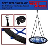 TOP SWING NET Tree Swing Rope WEB SPIDER Seat outdoor with Hanging Strap Kit, XXXL Diameter 40'' + Hanging Hardware 36'' up to 330lbs by WestSwing