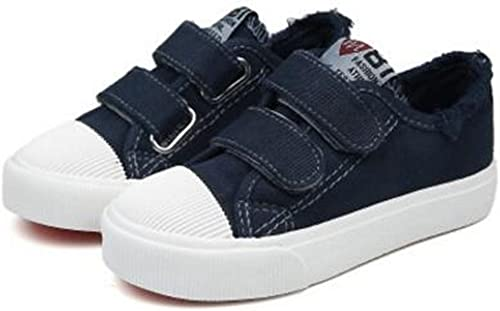 Believed Toddler//Little Kid Boys and Girls Slip on Canvas Sneakers Boys Girls Casual Fashion Shoes
