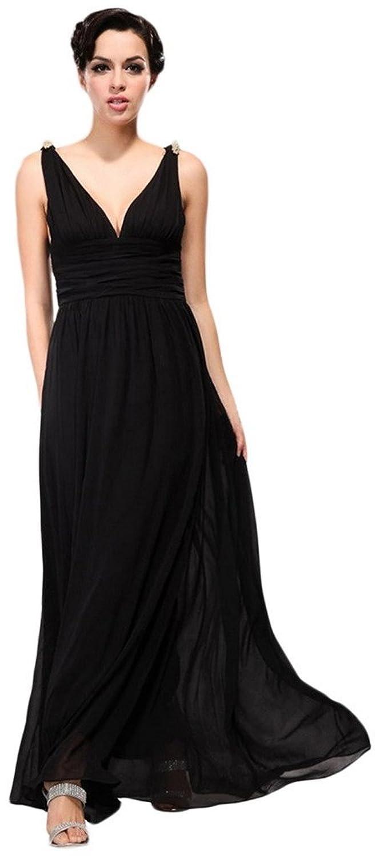 EOZY Damen Sommerkleid Tief-V Kleid Rock Partykleid Abendkleid