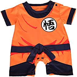 Dressy Daisy Baby Dragon Ball Son Goku Costume Dress up Jumpsuit Romper Outfit Infant Size 9-12 Months