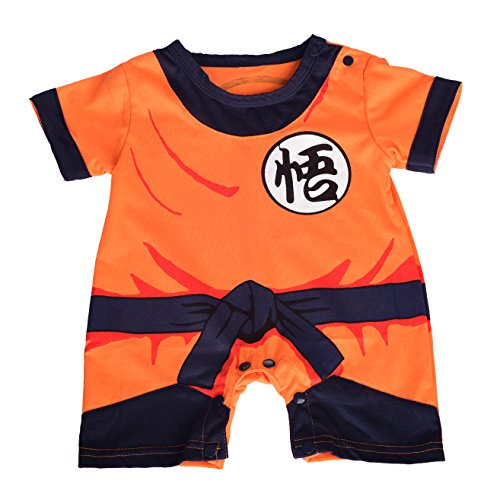 Dressy Daisy Baby Dragon Ball Son Goku Costume Dress Up Jumpsuit Romper Outfit Infant Size 6-9 Months