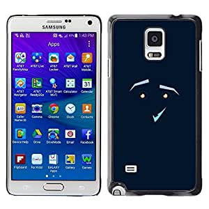 CASEMAX Slim Hard Case Cover Armor Shell FOR Samsung Galaxy Note 4 - FUNNY - FACE