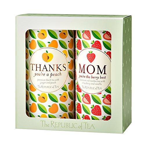 The Republic Of Tea Thanks Mom Gift Set, 2-Tin Boxed Set
