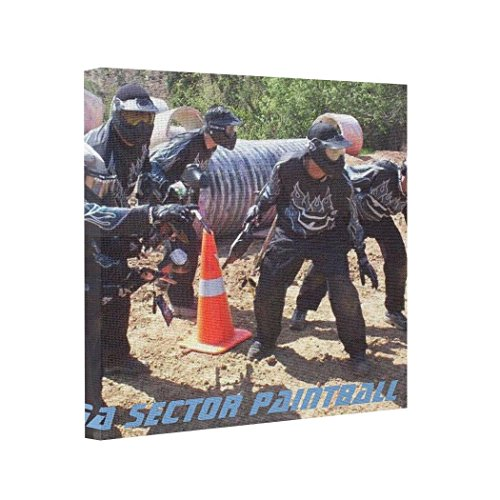 wonbye Canvas Picture Frames Paintball Team Omega Sector Framing Canvas Prints Canvas Wraps,Framed 8 x 8 ()