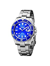WhatsWatch 40mm Parnis blue dial Automatic Luminous sapphire glass Men's Womens Watch PA-045