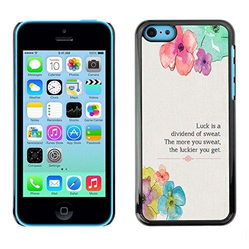 TopCaseStore / caoutchouc Hard Case Housse de protection la Peau - Floral Flower Spring Poem Message - Apple iPhone 5C