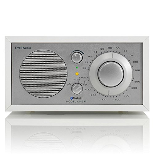 Tivoli Audio M1BTWHT Model One BT- Bluetooth AM/FM Radio (White/Silver)