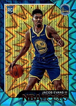 2018-19 NBA Hoops Teal Explosion  279 Jacob Evans III Golden State Warriors  Official 5ca81757e