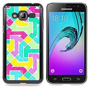 For Samsung Galaxy J3(2016) J320F J320P J320M J320Y Case , Modelo abstracto vibrante del trullo púrpura - Diseño Patrón Teléfono Caso Cubierta Case Bumper Duro Protección Case Cover Funda