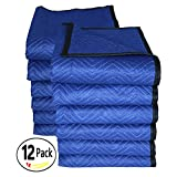 Southern Wholesales Pro Quality Moving Blankets,72 x 80 Inches, 45-55 Lbs/Doz,12-PK,Blue/Blue