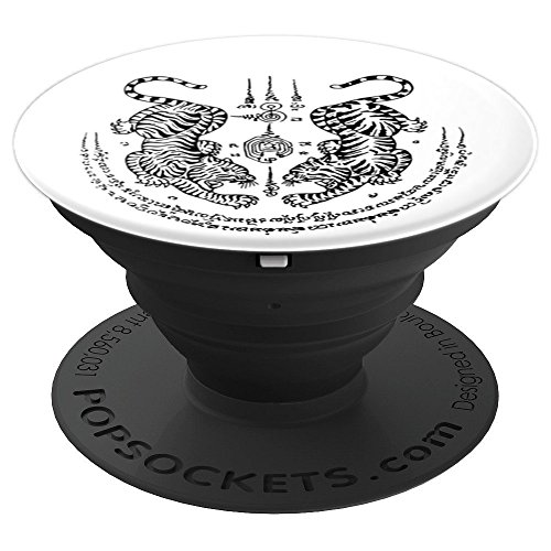 Muay Thai Kickboxing Twin Tigers - PopSockets Grip and Stand for Phones and Tablets