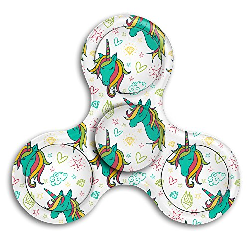 Colorful Unicorn Drawings Pattern DIY Spinner Customize Personality Fidget Spinner EDC Fidget Toy Hand Spinner Finger Spinner Toy