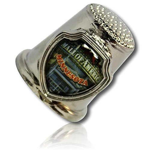 Custom & Collectable {25mm Hgt.x 25mm Dia} 1 Single, XL-Size Sewing Thimble Made of Fine-Grade Zinc Alloy Metal w/ Minnesota