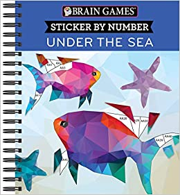 Amazon Com Brain Games Sticker By Number Under The Sea