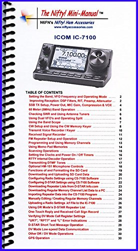 Manual Radio Icom (Icom IC-7100 Mini-Manual by Nifty Accessories)