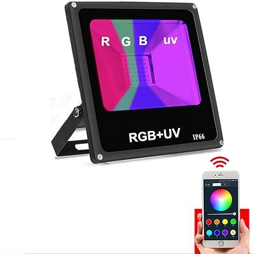 ZSSM Proyector LED Colorido RGB APLICACIÓN Móvil UV IP67 a Prueba ...