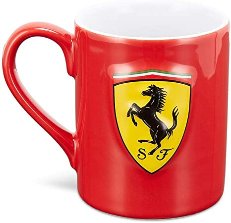 Ferrari Scuderia F1 Scudetto Shield Mug Black//Red Red