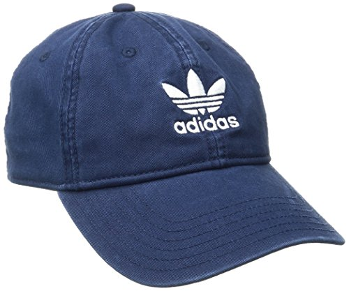 adidas Men's Originals Relaxed Fit Strapback Cap, One Size, Collegiate (Blue Baseball Hat Cap)