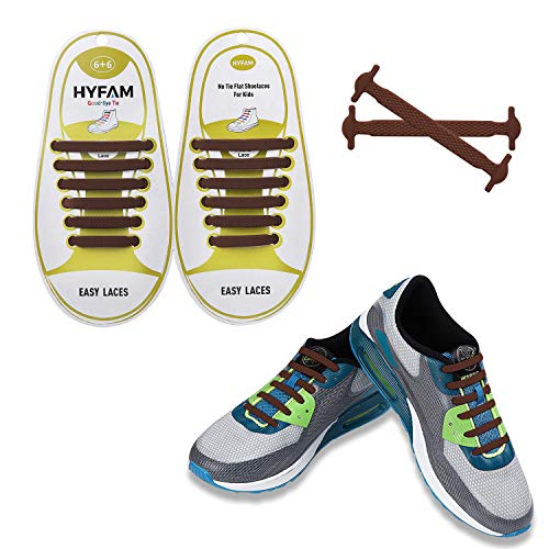HYFAM No Tie Shoelaces for Kids, Waterproof Silicone Tieless Flat Elastic Shoe Laces for Sneaker Boots Board Shoes and Casual Shoes - Focus Kids Shoes