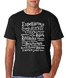 AW Fashion's List Of Harry Potter Spells - Harry Potter Humor Shirt Premium Men's T-Shirt (Medium, Black)