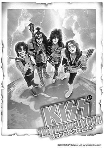 Multicolore Heart Rock Bandiera Originale Kiss Farewell Tour 110x75x0.1 cm Tessuto