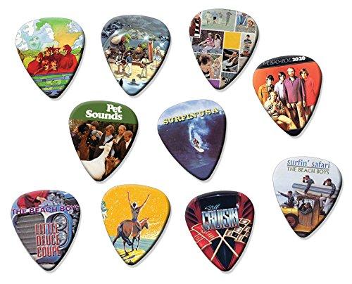 Beach Boys (A4 Edition) Set of 10 Electric Acoustic Guitar Plectrums (Beach Guitar Boys)