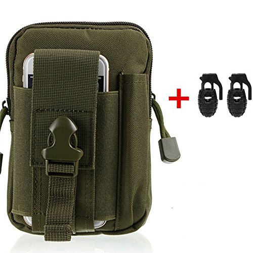 Tactical MOLLE Smartphone Holster, Heyqie(TM) 1000D Nylon Outdoor Big Capacity Tactical Holster EDC Carry Accessory Tool Waist Bag Pack Pouch Case with Belt Loop for Smart Phones & Accessories