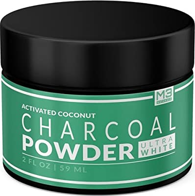 Premium Natural Charcoal Teeth Whitening Powder - Coconut Activated Charcoal and Bentonite Clay Formula - Use Like A Whitening Toothpaste - Extra Strength Bright Smile