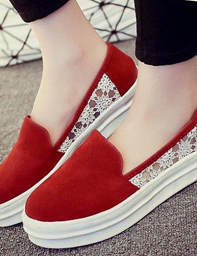 Zapatos Comfort Eu39 Mujer Cn36 Uk Zq Rojo Uk6 Mocasines Semicuero De Eu36 Negro Gray Redonda Uk4 Gris Tacón Cn39 Plano Gyht Exterior Casual Black Punta us6 Cerrada us8 w5qpYpBHn