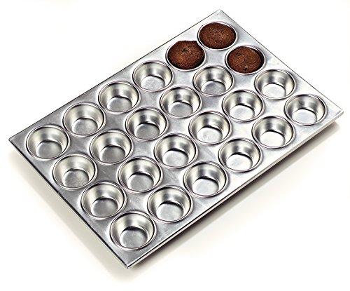 Carlisle 602424 Aluminum 3003 24 Cup Muffin Pan, 20.5'' Length x 14'' Width, 3-oz. Capacity (Case of 12) by Carlisle