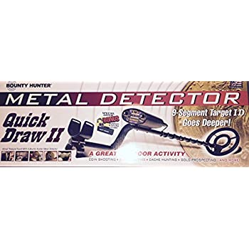 Bounty Hunter Quick Draw II Metal Detector with Bonus Headphones & Carry Bag