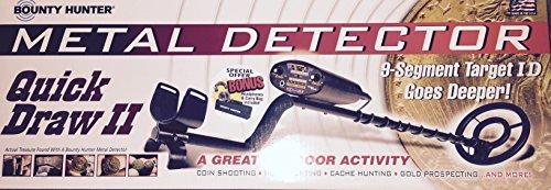 (Bounty Hunter Quick Draw II Metal Detector with Bonus Headphones & Carry Bag)