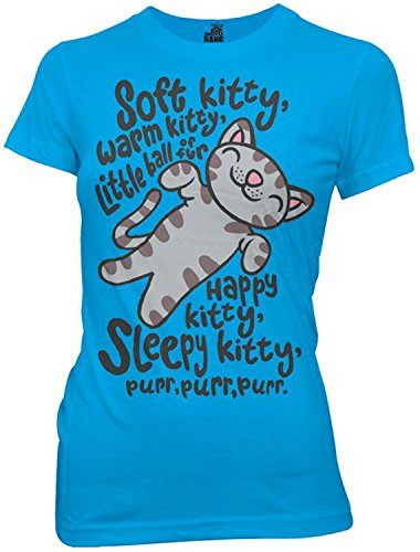 The Big Bang Theory Soft Kitty Song Juniors T-shirt M, Turquoise