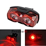 Generic Schrodinger10006 Raypal 2 X LED Bicycle Cycling Cycle Bike Rear Tail Light Red Super Bright