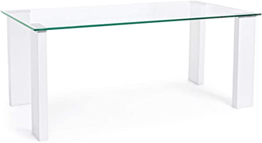ARREDinITALY Mesa Cristal Pierna Hielo de 120 X 60: Amazon.es: Hogar