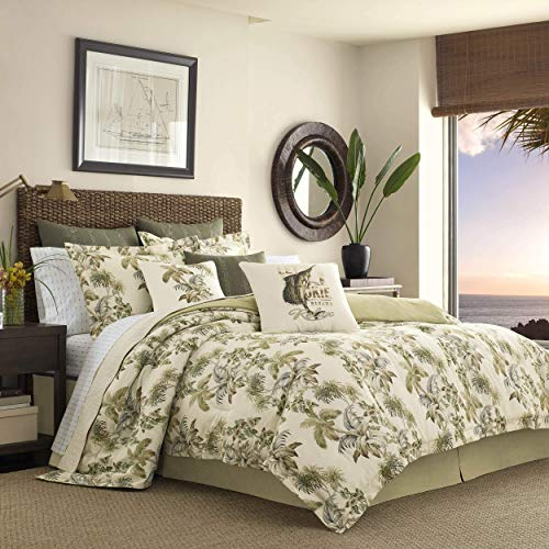 Tommy Bahama Nador Comforter Set, Queen, Beige (Sets Queen Bedding Tropical)