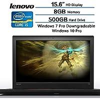 2018 Lenovo Thinkpad Flagship T560 Business Ready Laptop, 15.6 HD Display, Intel i5-6200U (2.3GHz up to 2.8GHz) 3MB Cache, 8GB DDR3 SDRAM, 500GB 7200RMP HDD, Windows 10 Pro 64 bit