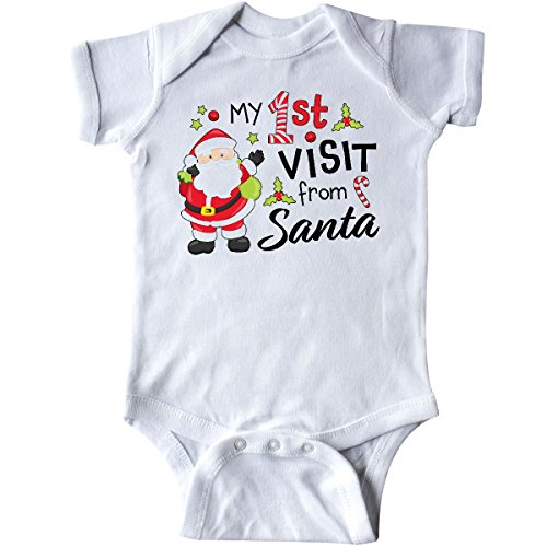 inktastic - My First Visit from Santa Infant Creeper Newborn White (Santa Baby Infant Creeper)