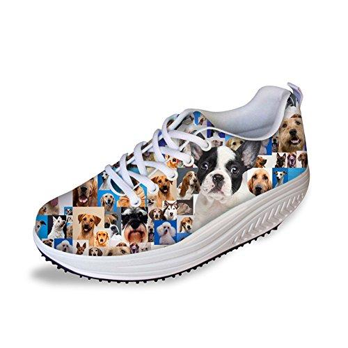 HUGS Platform IDEA Shoes Shoes Dog Platform Bulldog Cute Womens Cute Slimming Slimming Bulldog Womens IDEA Dog HUGS ppqwAR