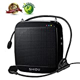 Voice Amplifier,SHIDU Mini Voice Amplifier with Wired Microphone Headset 15W Portable Personal Speaker