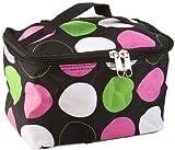 Cute! Cosmetic Makeup Bag Case Retro Polkadots Green Pink Small Polka Dot, Bags Central
