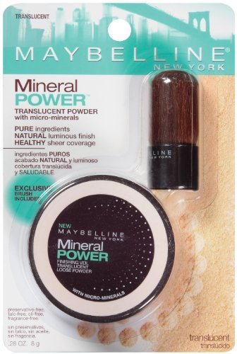 Maybelline New York Mineral Power de finition Veil poudre translucide, Translucide, 0,28 once