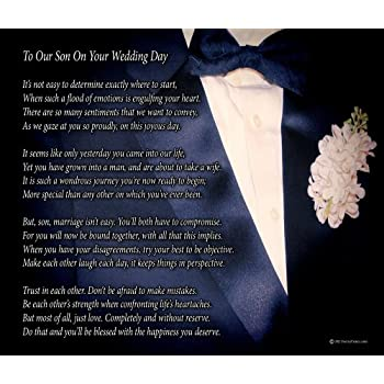 Amazon.com: To Our Son On Your Wedding Day - Poem Print (8x10 ...