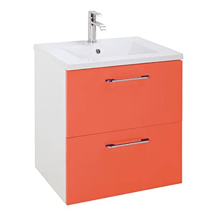 Muebles De Bano Naranja.Randalco 60 Cm H Series Moderno Mueble De Bano Naranja 60 X 60 X 45