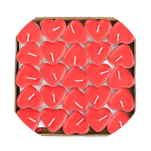 Russian Wedding Cake - 50pcs/lot DIY Creative Birthday Candles Heart Shape Marriage Wedding Home Decoration,Red,Russian Federation