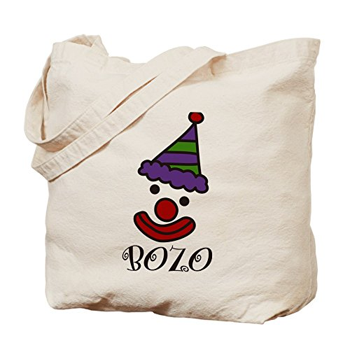 [CafePress - Bozo Tote Bag - Natural Canvas Tote Bag, Cloth Shopping Bag] (Bozo Clown Costumes)