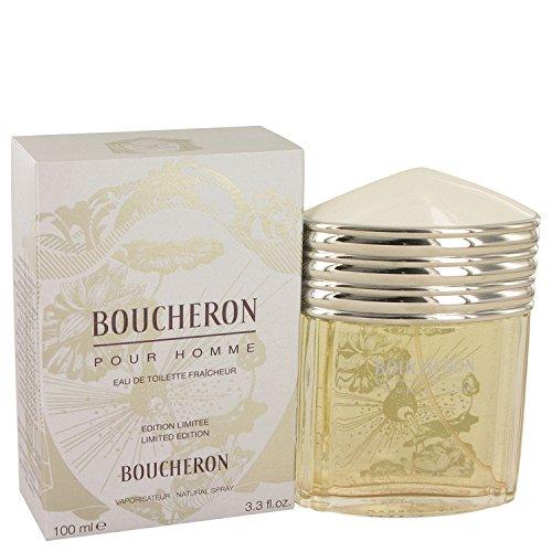 Boucherðn Côlogne For Men 3.4 oz Eau De Toilette Fraicheur Spray (Limited Edition) + FREE VIAL SAMPLE COLOGNE (De Toilette Spray Fraicheur Eau)