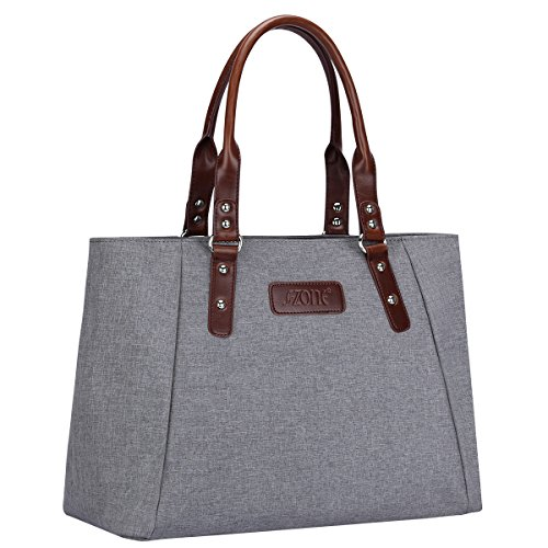 S-ZONE Women's Handbags Lightweight Large Tote Casual Work Bag (Grey)